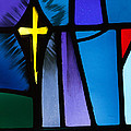 Stained Glass Cross by Karen Lee Ensley