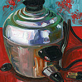 Stainless Steel Cooker Of Eggs by Jennie Traill Schaeffer