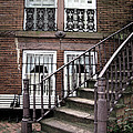 Staircase And Shutters by Linda Ryan