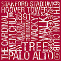 Stanford College Colors Subway Art by Replay Photos