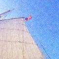 Star Of India. Flag And Sail by Ben and Raisa Gertsberg