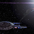 Star Trek - Ambush - Klingon Bird Of Prey - Uss Enterprise D by Jason Politte