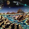 Star Trek - Orbiting Planet by Michael Rucker