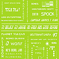 Star Trek Remembered in Green Print by Nomad Art And  Design