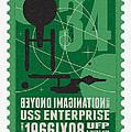 Starschips 34-poststamp - Uss Enterprise by Chungkong Art