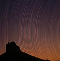 Startrails Over Shiprock In The Four by Tim Fitzharris