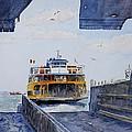 Staten Island Ferry Docking by Anthony Butera