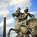 Statue . Place De La Concorde. Paris. France by Bernard Jaubert