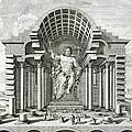 Statue Of Olympian Zeus by Johann Bernhard Fischer von Erlach