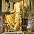 Statue Of Zeus At Oympia by English School