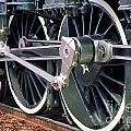 Steam Locomotive Coupling Rod And Driver Wheels by Wernher Krutein