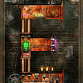Steampunk - Alphabet - E is for Electricity Print by Mike Savad