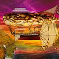 Steampunk - Blimp - Everlasting Wonder by Mike Savad
