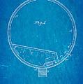 Stevens Roller Coaster Patent Art 1884 Blueprint by Ian Monk
