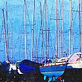 Still In Storage North Muskegon Marina  by Rosemarie E Seppala