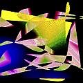 Still Life in Geometric Art Print by Mario  Perez