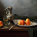 Still Life With A Jug And Roamer And Pears by Helen Tatulyan
