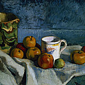 Still Life With Apples Cup And Pitcher by Paul Cezanne