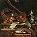 Still Life With Musical Instruments by Pieter Gerritsz van Roestraten