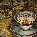 Still Life With Red Cruiser Bike by Mark Howard Jones