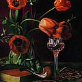 Still Life With Tulips - Drawing by Natasha Denger