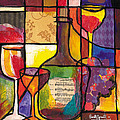 Still Life With Wine And Fruit by Everett Spruill