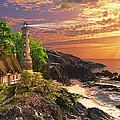 Stoney Cove Lighthouse Print by Dominic Davison