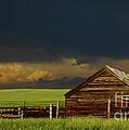 Storm Crossing Prairie 2 Print by Robert Frederick
