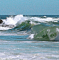 Stormy Lagune - Blue Seascape by Ben and Raisa Gertsberg