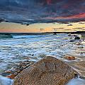 Stormy Sunset Seascape by Katherine Gendreau