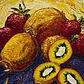 Strawberries And Kiwis by Paris Wyatt Llanso