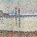 Study For The Channel At Gravelines Evening by Georges Pierre Seurat