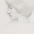 Study Of A Woman's Head Profile To Left by Sir Edward Coley Burne-Jones
