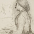 Study Of A Young Girl At The Piano by Pierre Auguste Renoir