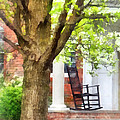 Suburbs - Rocking Chair On Porch by Susan Savad
