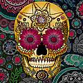 Sugar Skull Paisley Garden - Copyrighted by Christopher Beikmann