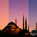 Suleymaniye Sundown Triptych 05 by Rick Piper Photography
