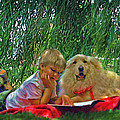 Summer Reading Print by Jane Schnetlage