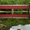Summer Reflections At West Cornwall Covered Bridge by Thomas Schoeller