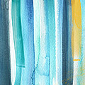 Summer Surf- Abstract Painting by Linda Woods