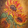 Sunflower Enchantment Print by Ella Kaye Dickey