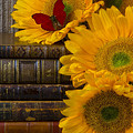 Sunflowers And Old Books by Garry Gay