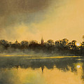Sunrise at Notre Dame Print by Cap Pannell