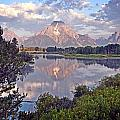 Sunrise at Oxbow Bend 4 Print by Marty Koch
