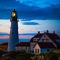 Sunrise At Portland Head Lighthouse by Diane Diederich