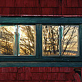 Sunrise In Old Barn Window by Susan Capuano