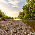 Sunrise Light On Buffalo River by Bill Tiepelman