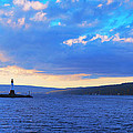 Sunrise On Cayuga Lake Ithaca New York Panoramic Photography by Paul Ge