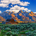Sunrise On The Tetons Limited Edition by Greg Norrell