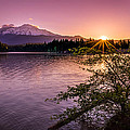 Sunrise Over Lake Siskiyou And Mt Shasta by Scott McGuire